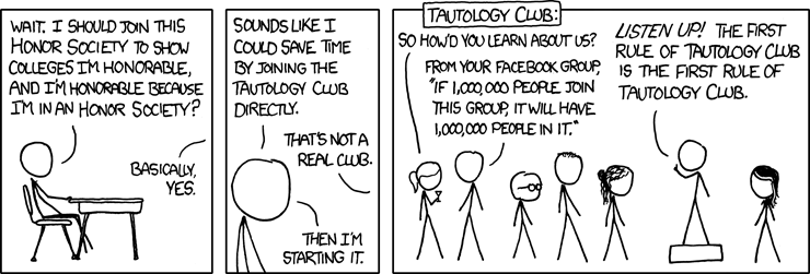 XKCD Tautology Club